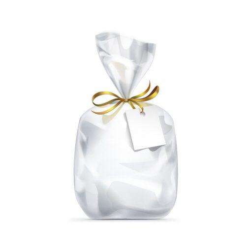 """חבילת 25 שקיות צלופן עם פס דבק - 50/55/5 ס""""מ"""