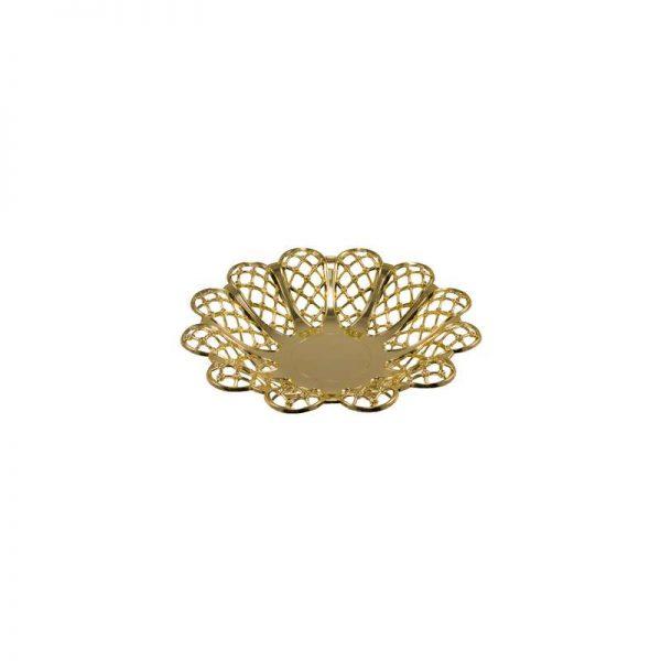 """קערה פלסטית פרח ק.24 ג.4 ס""""מ-זהב"""