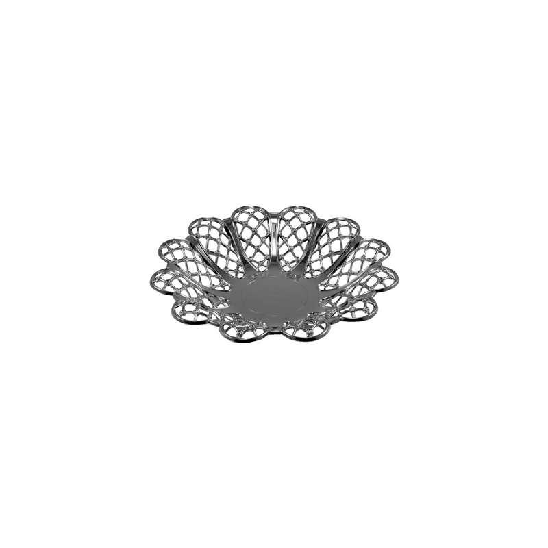 """קערה פלסטית פרח ק.24 ג.4 ס""""מ-כסף"""