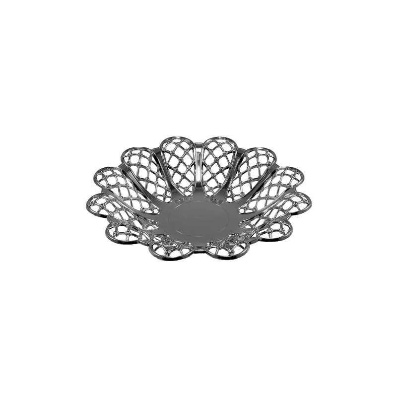 """קערה פלסטית פרח ק.27 ג.5 ס""""מ-כסף"""