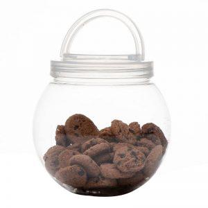 """צנצנת פלסטי כדורי זויתי ק.15 ס""""מ ג.פ. 10 ס""""מ"""