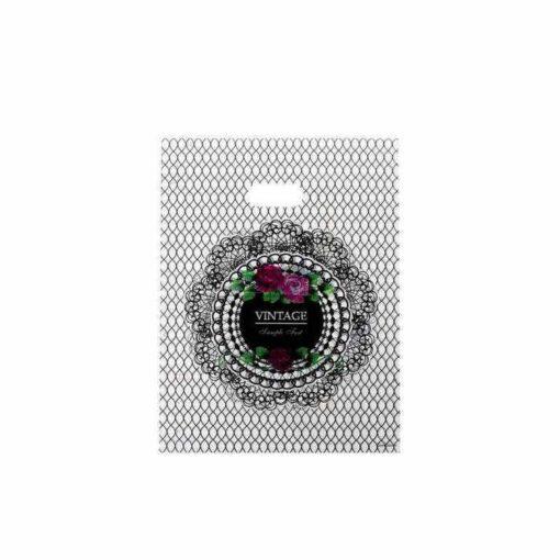 """חבילת 50 שקיות ניילון 15/20 ס""""מ-VINTAGE שחור"""