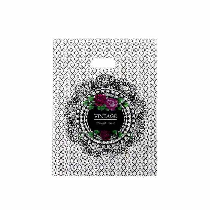 """חבילת 50 שקיות ניילון  20/25 ס""""מ-VINTAGE שחור"""
