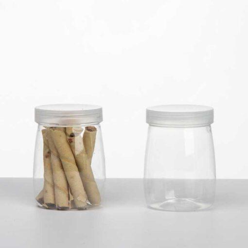 """צנצנת פלסטי ק.5.5 ג.8 ס""""מ (150 מיל)"""