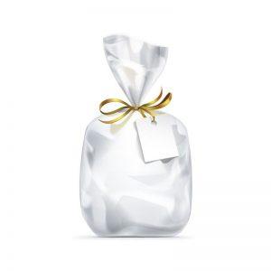 """חבילת 25 שקיות צלופן עם פס דבק - 20/30 ס""""מ"""