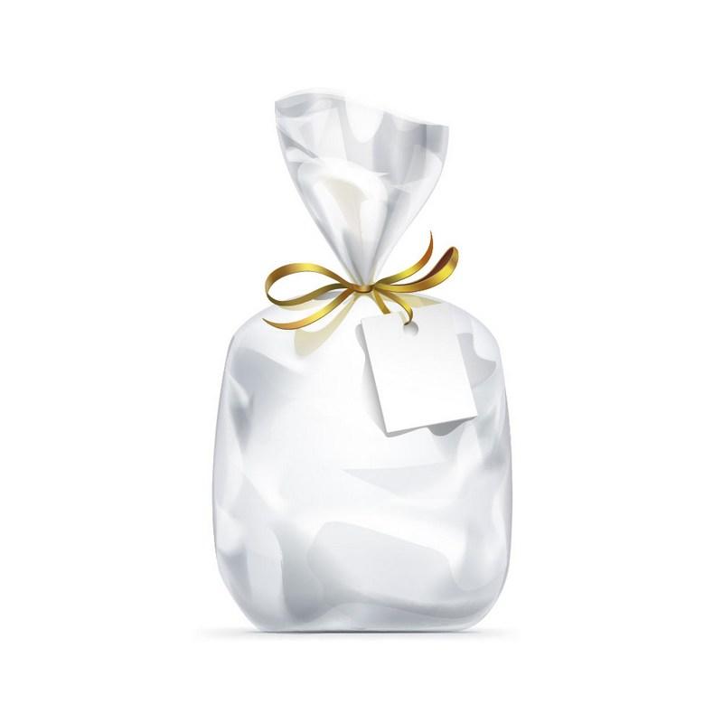 """חבילת 25 שקית צלופן 17/45 ס""""מ עם פס דבק"""