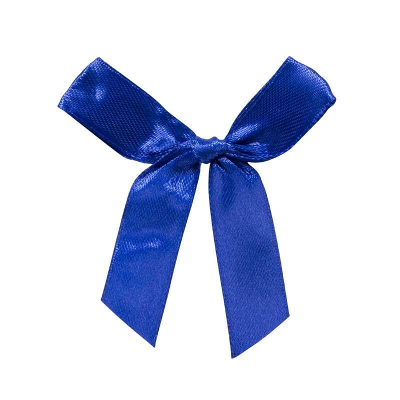 """חבילת 12 פפיון בד+תיל קשירה ר.1.5 ס""""מ-כחול"""