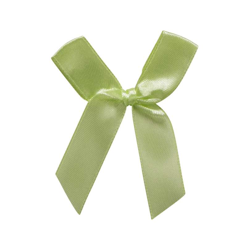 """חבילת 12 פפיון בד+תיל קשירה ר.1.5 ס""""מ-ירוק"""