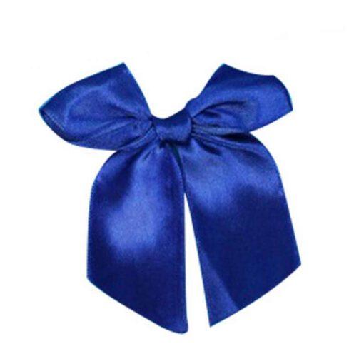 """חבילת 6 פפיון בד+תיל קשירה ר.3 ס""""מ-כחול"""