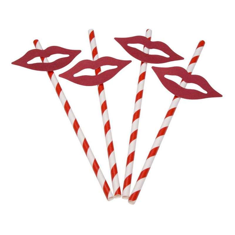 חבילת 12 קשית נייר+דיגלון-שפתיים