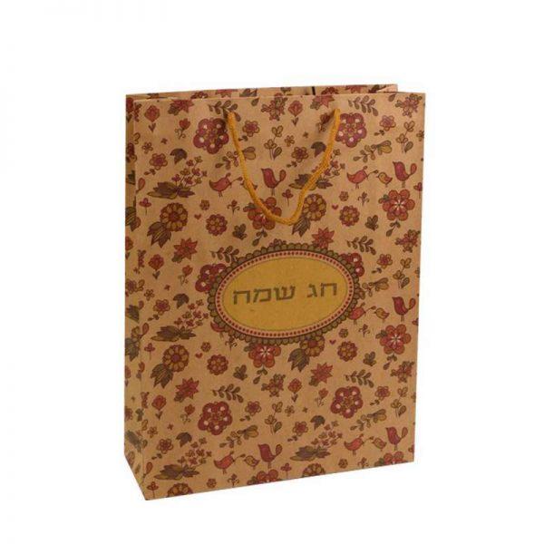"""שקית נייר 36/27/9 ס""""מ-חג שמח"""