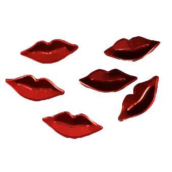 חבילת קונפטי פי.וי.סי-שפתיים אדום