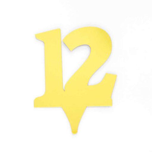 """כרזה אקרילית מספר-12 זהב/ראי  ג.17 ס""""מ"""