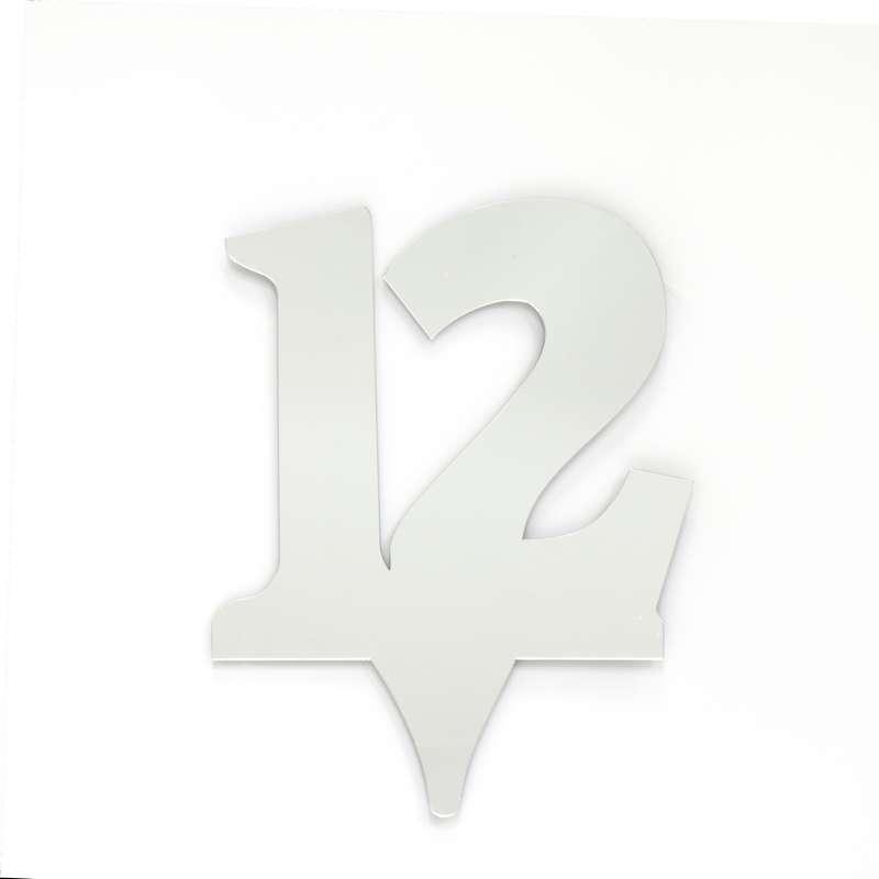 """כרזה אקרילית מספר-12 כסף/ראי ג.17 ס""""מ"""