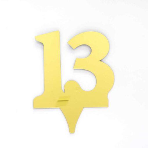 """כרזה אקרילית מספר-13 זהב/ראי  ג.17 ס""""מ"""