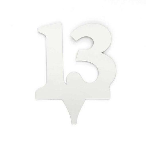 """כרזה אקרילית מספר-13 כסף/ראי ג.17 ס""""מ"""