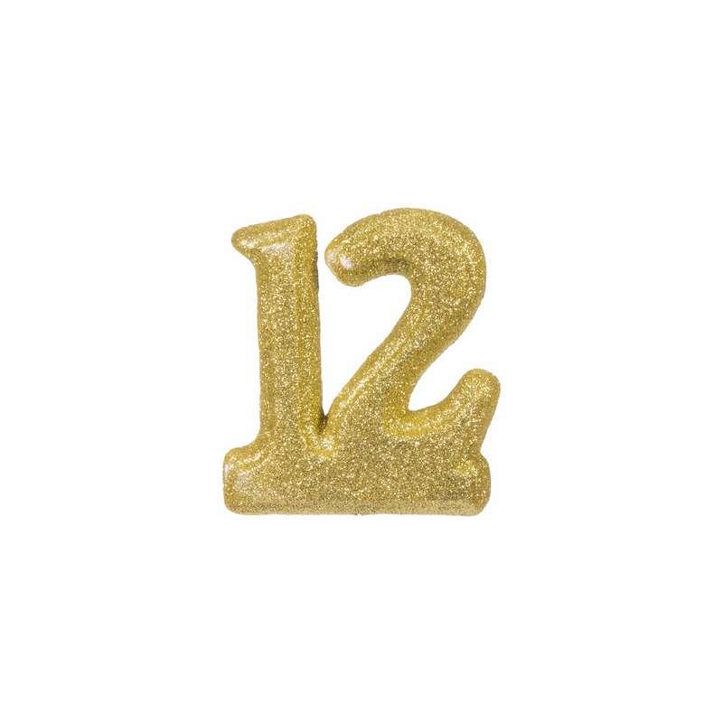 """מספר 12 קלקר-זהב 10 ס""""מ"""