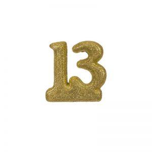 """מספר 13 קלקר-זהב 10 ס""""מ"""