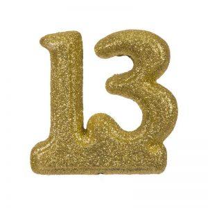 """מספר 13 קלקר-זהב 20 ס""""מ"""