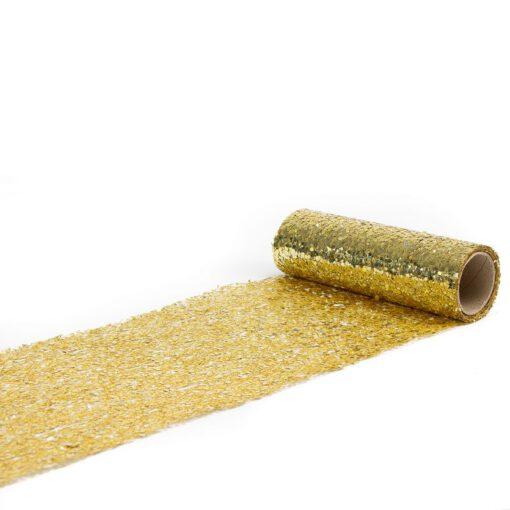 """גליל בד מיטאלי 15 ס""""מ 3 יארד-נצנץ-זהב"""