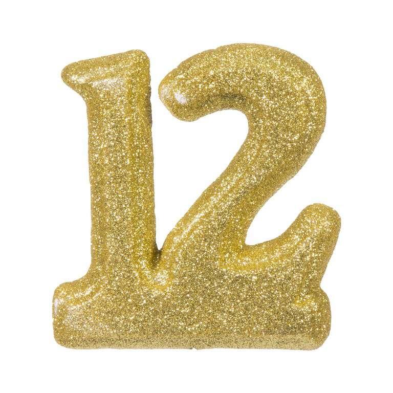 """מספר 12 קלקר-זהב 30 ס""""מ"""
