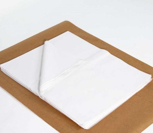 """חבילת 500 גליון נייר משי 50/65ס""""מ-לבן"""