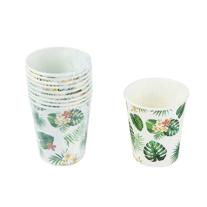 חבילת 10 כוסות נייר - עלים