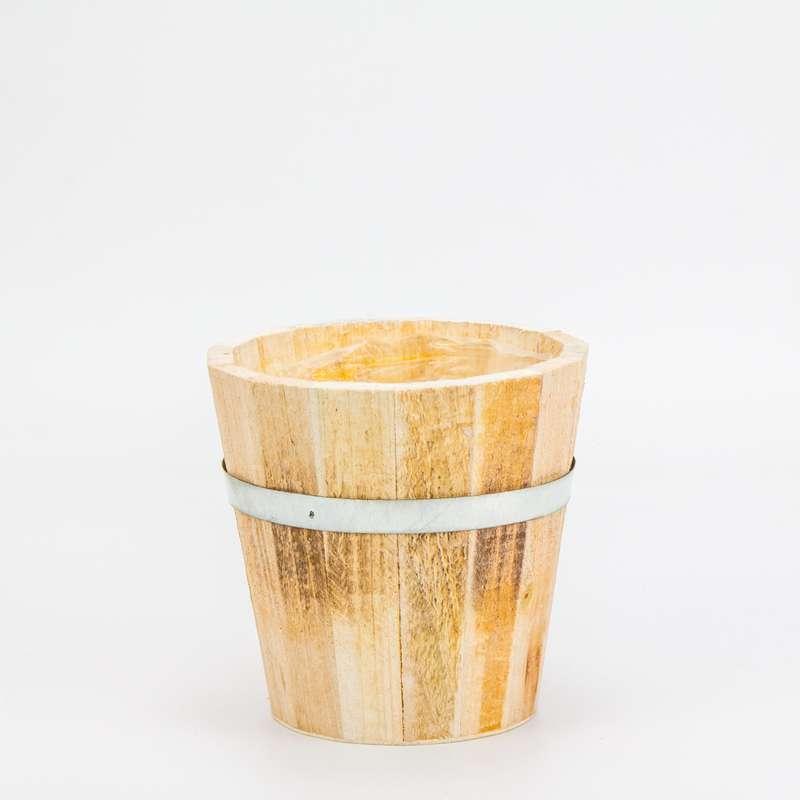 """עציץ עץ+ציפוי ניילון ק.12 ג.12 ס""""מ"""