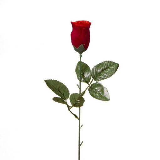 """ענף ורד קטיפה סגור ג.43 ס""""מ-אדום"""