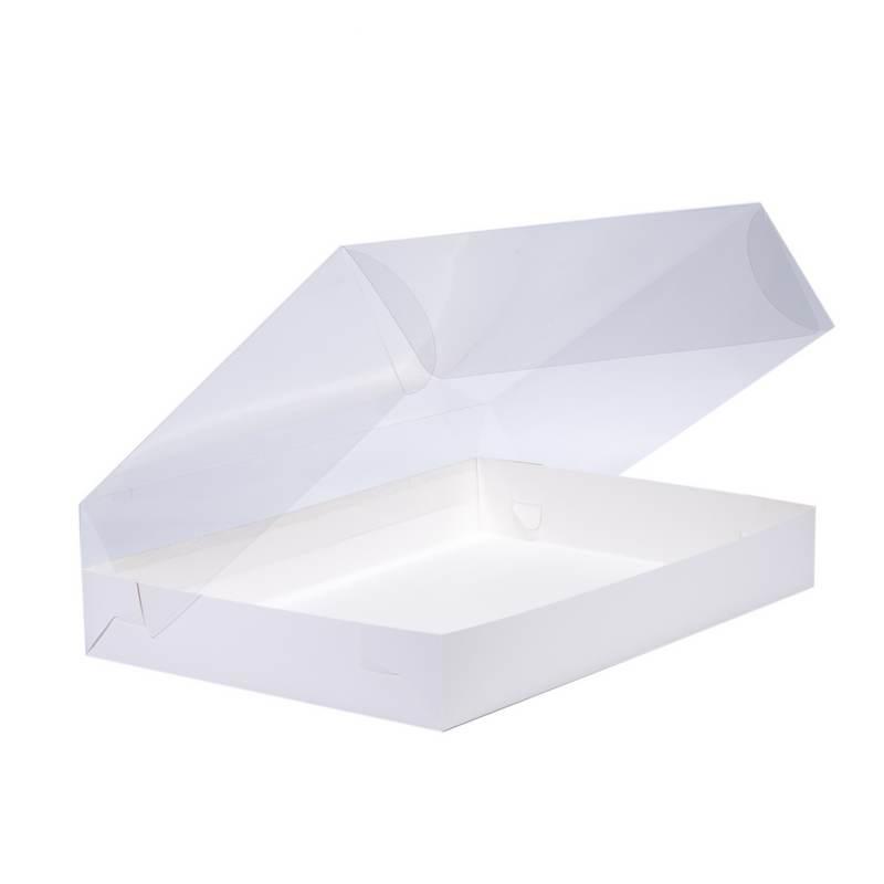 """קפ' קרטון לבן מכסה פי וי סי 35/25/8.5 ס""""מ"""