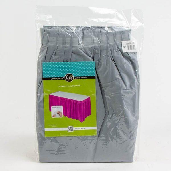 """חצאית פלסטי לשולחן ר.73 א.426 ס""""מ-אפור"""