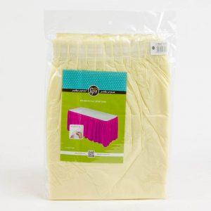 """חצאית פלסטי לשולחן ר.73 א.426 ס""""מ-קרם"""