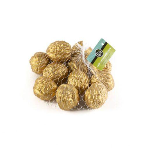 שק 12 אגוזי מלך פלסטי - זהב