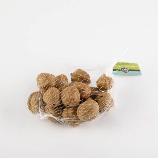 שק 18 אגוזים פלסטי טבעי (בהיר)
