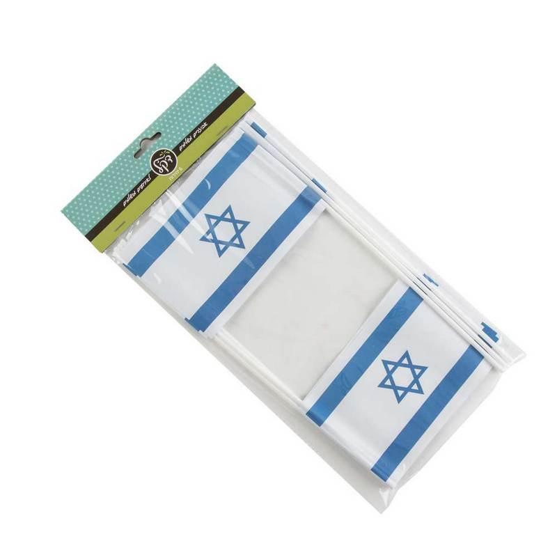 """חבילת 6 דגל ישראל 15/10 ס""""מ ג.30 ס""""מ (נייר)"""