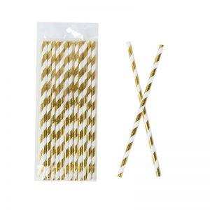 חבילת 25 קשית נייר -זהב ספירלי