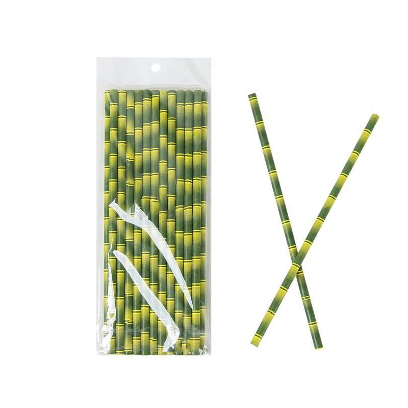 חבילת 25 קש נייר -דמוי במבוק