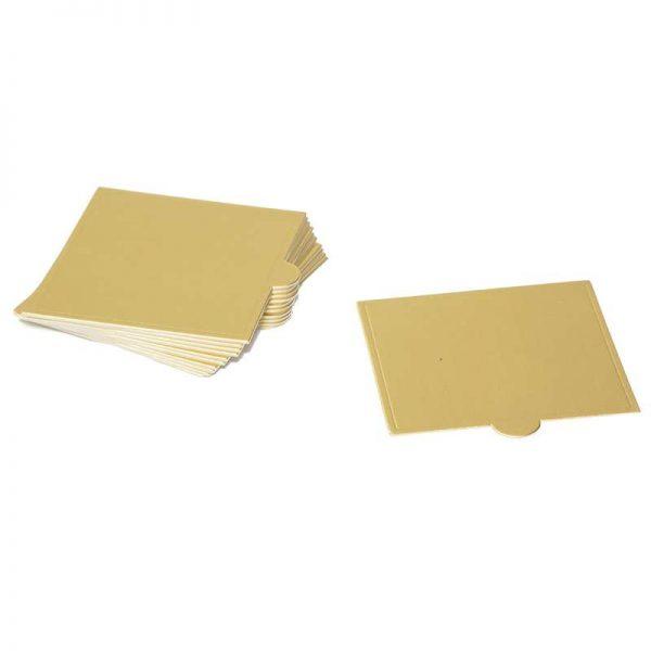 """חבילת 12 תחתית מרובע לעוגה אישית 8.5/9 ס""""מ-זהב"""