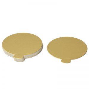 """חבילת 12 תחתית עגול לעוגה אישית קוטר 9 ס""""מ-זהב"""