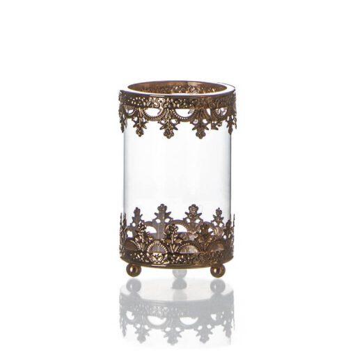 """בסיס מתכת + זכוכית ק.10.5 ג.17 ס""""מ -קופר"""