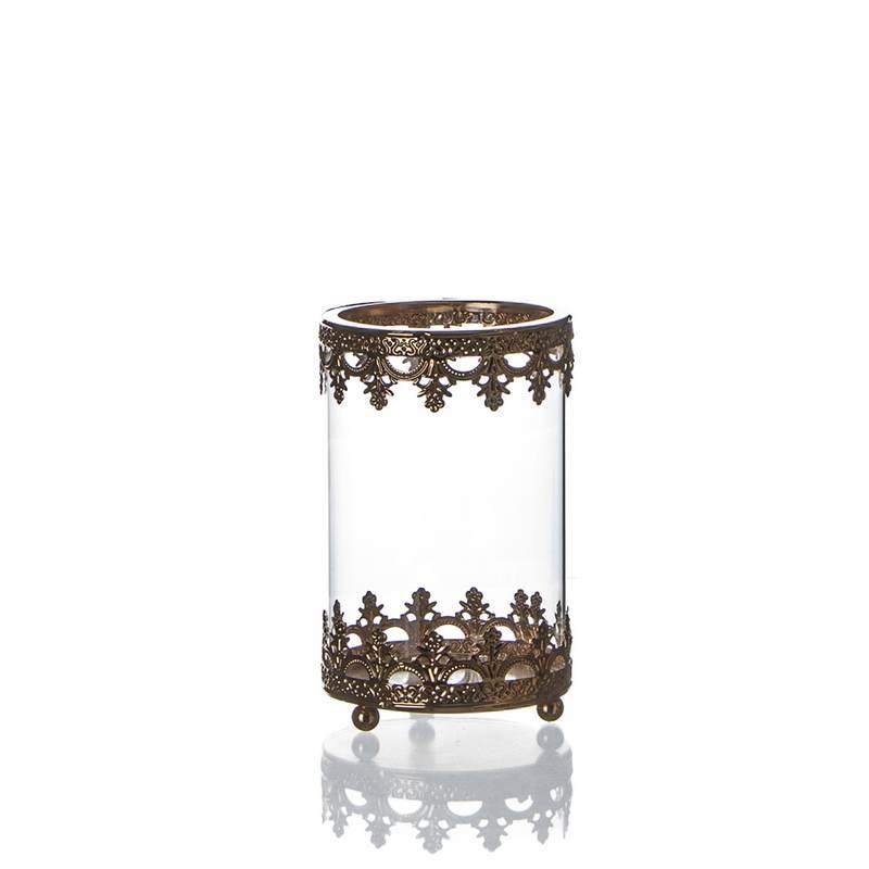 """בסיס מתכת + זכוכית ק.12 ג.20 ס""""מ -קופר"""