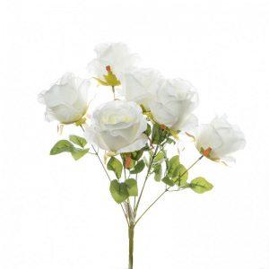 זר ורד פתוח ג'מבו 7X קרם