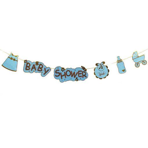 שרשרת לתינוקות - BABY SHOWER- כחול/זהב
