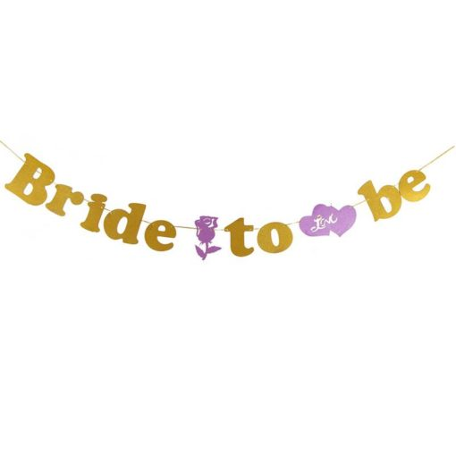 שרשרת אותיות BRIDE TO BE-פושי'ה זהב