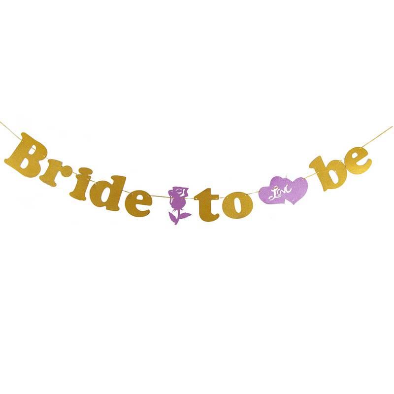 שרשרת אותיות BRIDE TO BE-פושי'ה זהב