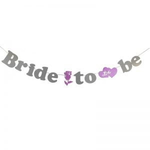 שרשרת אותיות BRIDE TO BE-פושי'ה כסף