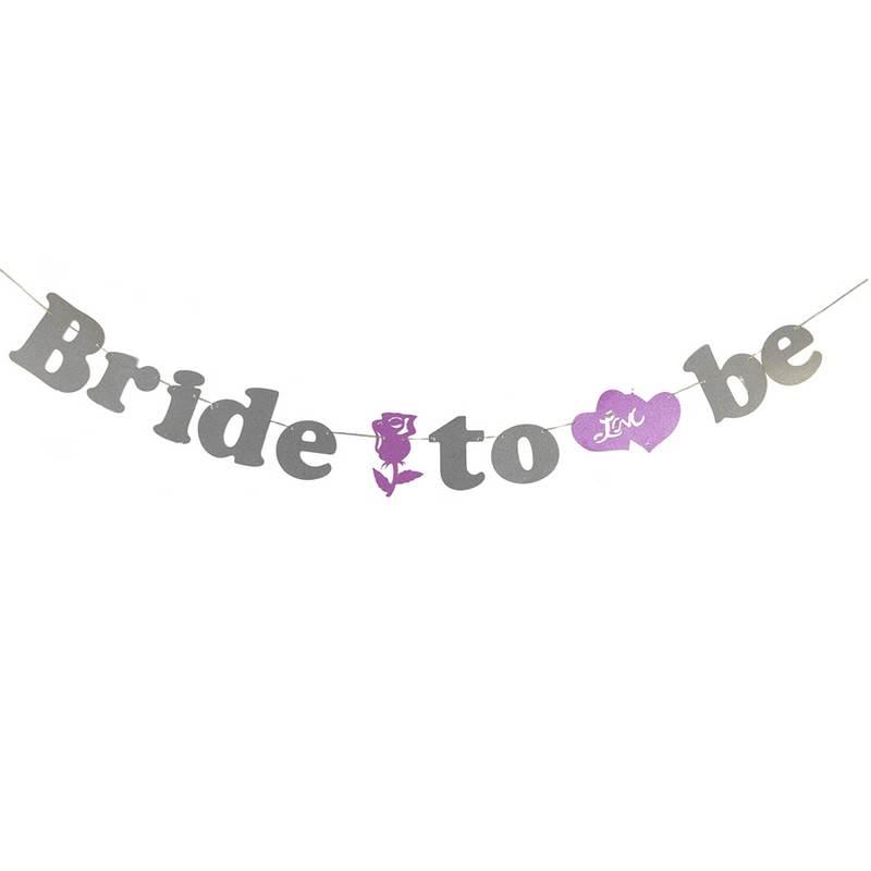 שרשרת אותיות BRIDE TO BE-פושי'ה כסף