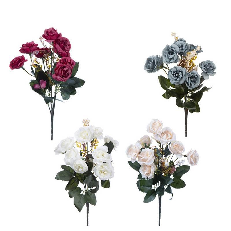 זר ורד פתוח מיני 5X מעורב 4 צבעים
