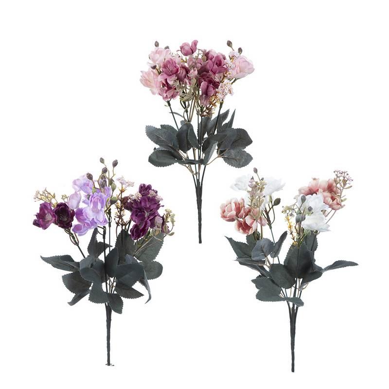 זר פרחי שדה ענתיק 5X מעורב 3 צבעים