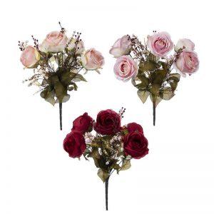 זר ורד פתוח ג'מבו +תוספות 9X -מעורב 4 צבעים